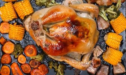 Thịt quay giòn bì, clip nấu ăn, món ăn ngon