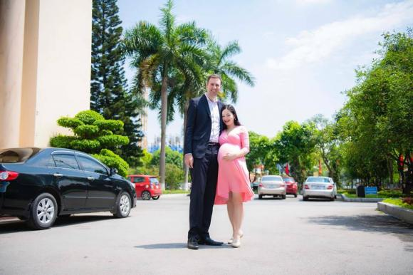 Lan Phương, diễn viên Lan Phương, Lan Phương kết hôn với chồng Tây, Lan Phương sinh con, sao Việt