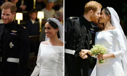 giá váy cưới công nương meghan markle mặc, Hoàng tử Harry,đám cưới Hoàng gia Anh, công nương meghan markle, váy cưới