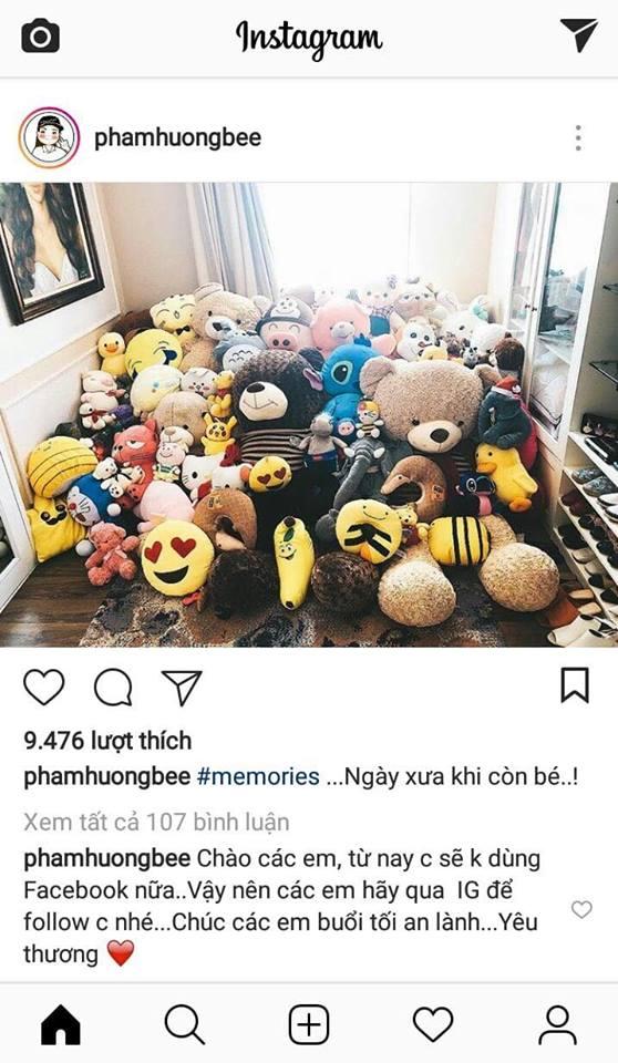 Hoa hậu Phạm Hương tuyên bố dừng chơi Facebook giữa tin đồn yêu đại gia