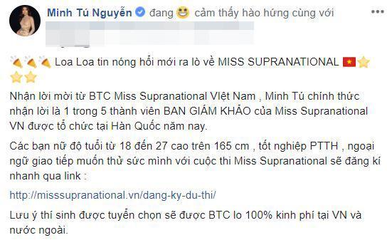 minh tú, minh tú làm giám khảo, miss supranational vietnam 2018