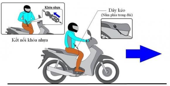 Áo túi khí xe máy, bảo hiểm khi đi xe máy,