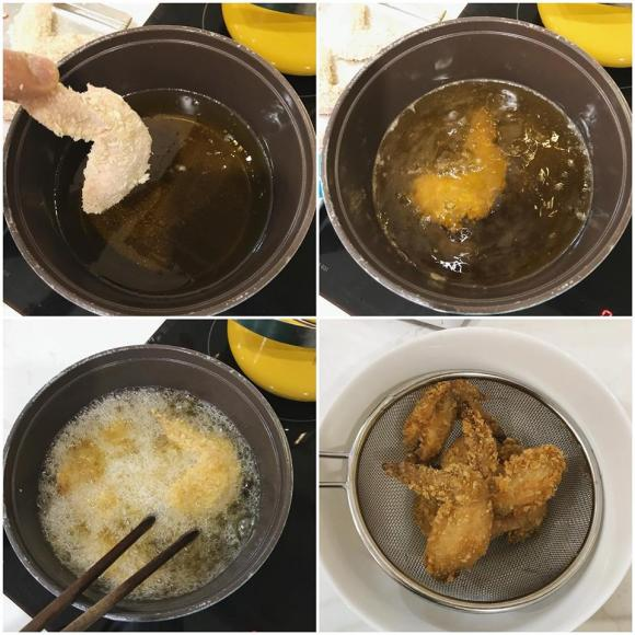 cánh gà chiên mắm, cách làm cánh gà chiên mắm, kiên hoàng