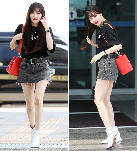 Yoona, Hyun A, Park Min Young, thời trang sân bay