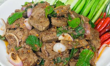 trứng lòng đào sốt thịt băm kiểu Thái, món ăn ngon, clip nấu ăn