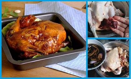 gà nướng muối ớt lá mắc mật, công thức gà nướng muối ớt lá mắc mậ, món ngon từ gà