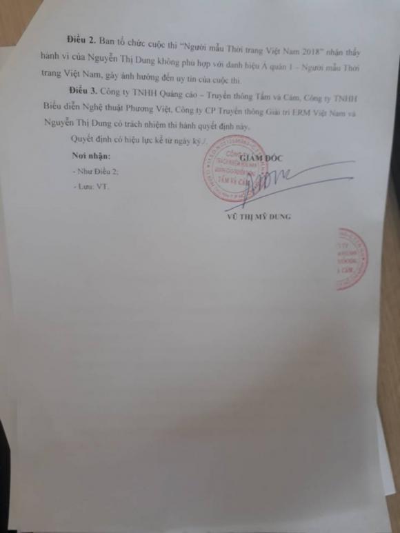 á hậu Thư Dung, bán dâm, sao Việt