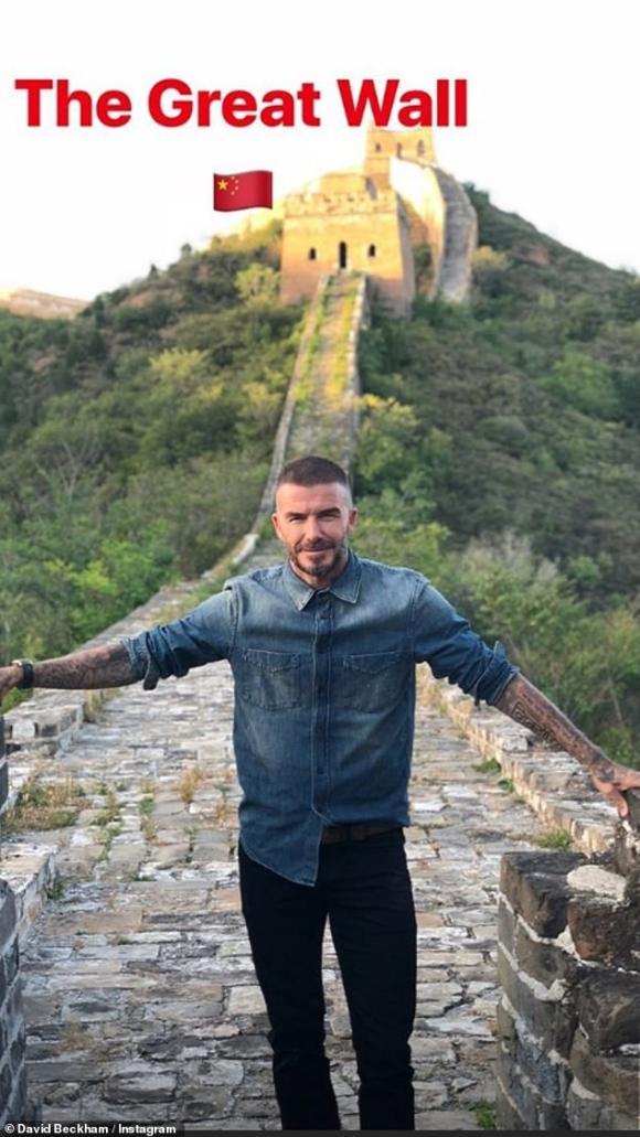 David Beckham,David Beckham đến Vạn Lý Trường Thành,sao Hollywod