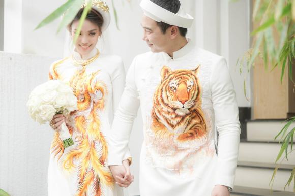 Lan Khuê,John Tuấn Nguyễn,đám hỏi Lan Khuê,sao Việt,đám cưới Lan Khuê