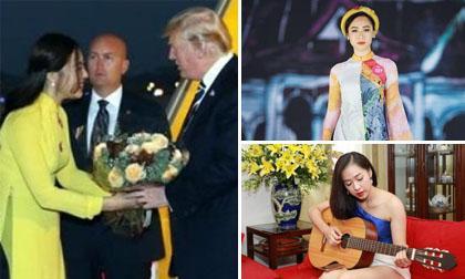 nữ sinh tặng hoa cho Tổng thống Mỹ Donald Trump, Hà My, MC Hà My