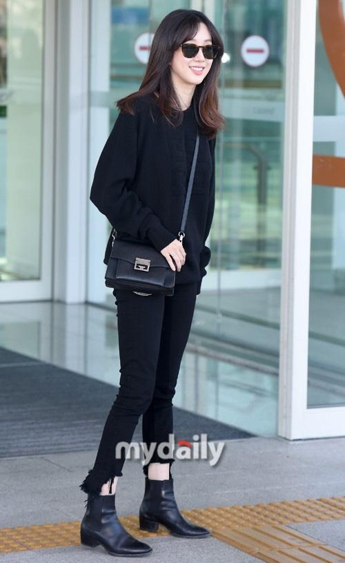 Yoona, Shin Min Ah, Jessica, thời trang sân bay sao hàn