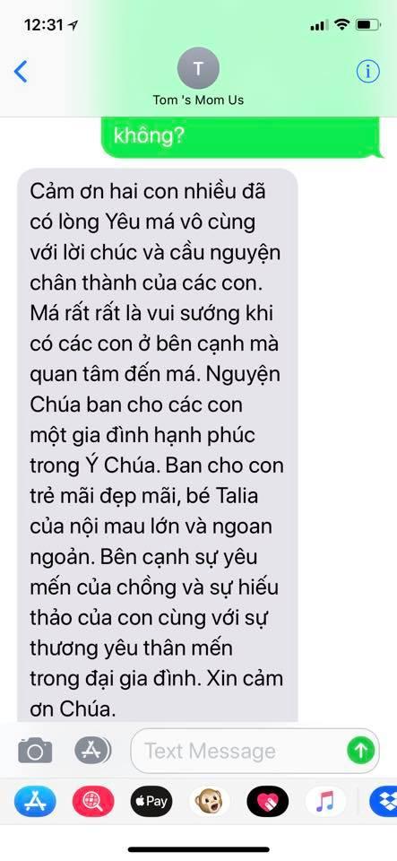 ca sĩ Thanh Thảo, mẹ chồng Thanh Thảo, sao Việt