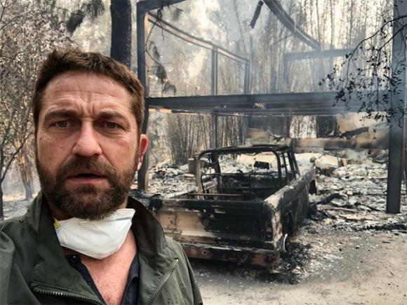 cháy lớn, cháy lớn ở Mỹ, Sao Hollywood bị cháy nhà, ngôi sao 'Gods of Egypt' - Gerard Butler