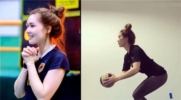 nữ VĐV bóng chuyền xinh đẹp, nữ vđv bóng chuyền thái lan, nữ cầu thủ bóng chuyền thái lan gây sốt