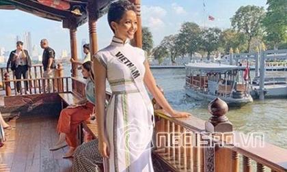 hoa hậu H'Hen Niê, á hậu Mâu Thuỷ, á hậu Hoàng Thuỳ, sao Việt