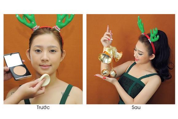 BB Thanh Vân, Học trang điểm, Trang điểm mùa noel