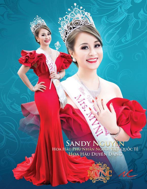 Sandy Nguyễn, Hoa hậu Phụ nữ Quốc tế người Việt 2018, sao việt