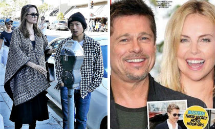 brad pitt, angelina jolie, charlize theron, sao hollywood