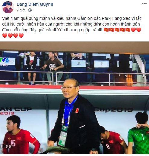 đội tuyển Việt Nam, sao việt động viên ĐT Việt Nam, Asian Cup 2019,Asian Cup