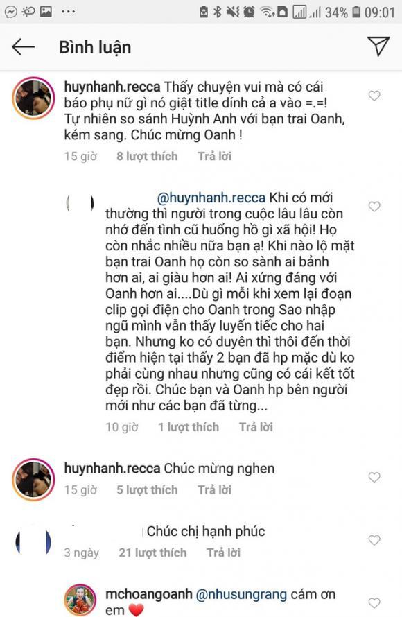 Hoàng Oanh, Huỳnh Anh, tình cũ