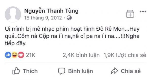 Sơn Tùng, Sơn Tùng trẻ trâu, status của Sơn Tùng