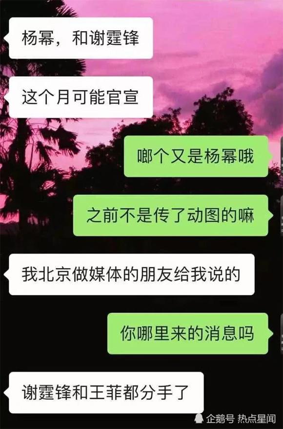 Tạ Đình Phong, Dương Mịch, Dương Mịch hẹn hò Tạ Đình Phong, Vương Phi