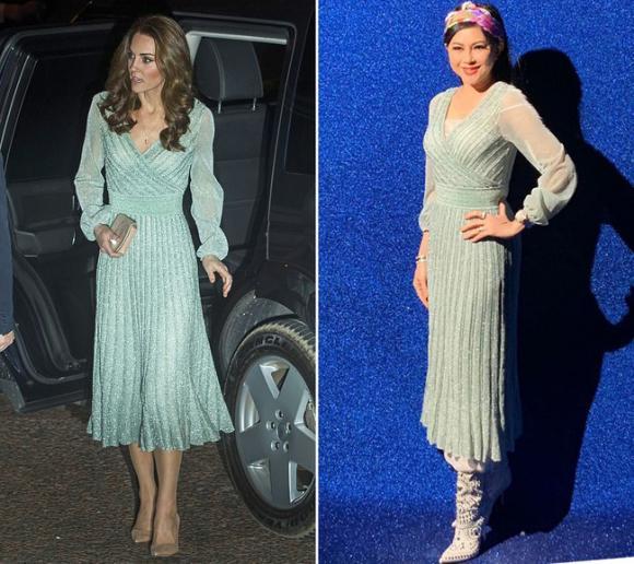 Kate Middleton,sao đụng hàng,doanh nhân Thủy Tiên