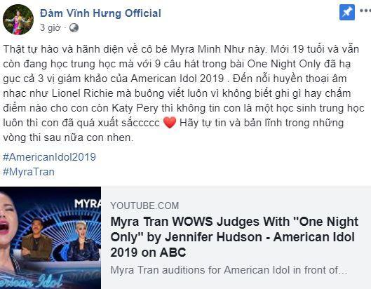 Minh Như, American Idol 2019, sao việt khen ngợi Minh Như