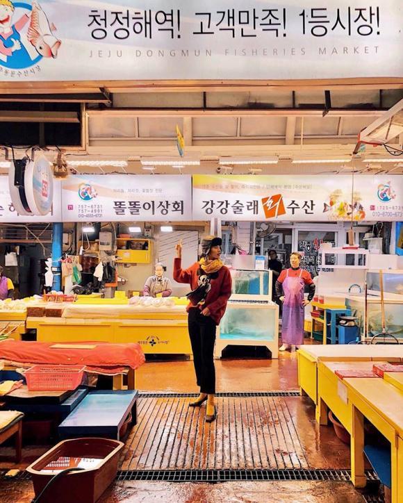 Cao Thiên Trang,Cao Thiên Trang du lịch Jeju,Jeju Hàn Quốc