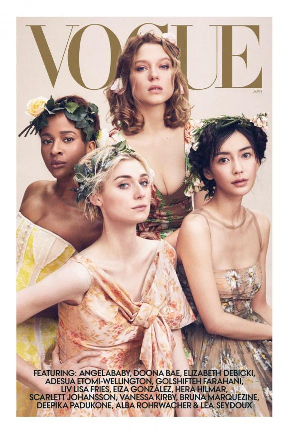Angelababy,Scarlett Johansson,sao Hoa ngữ,Angelababy trên Vogue Mỹ