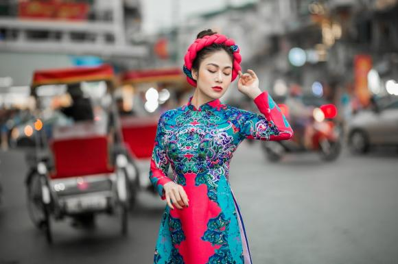 Hoa hậu tuyết nga,hoa hậu áo dài việt nam,tuyết nga diện áo dài