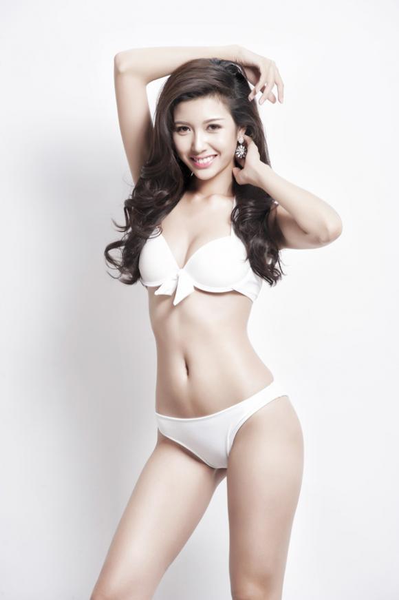 Á hậu thúy vân,hoa hậu quốc tế 2015,thúy vân diện bikini,sao việt