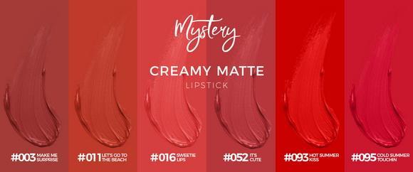 Mystery, Son kem lỳ, Creamy Matte Lipstick