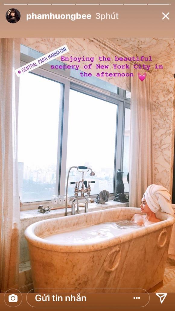 Phạm Hương, bồn tắm,