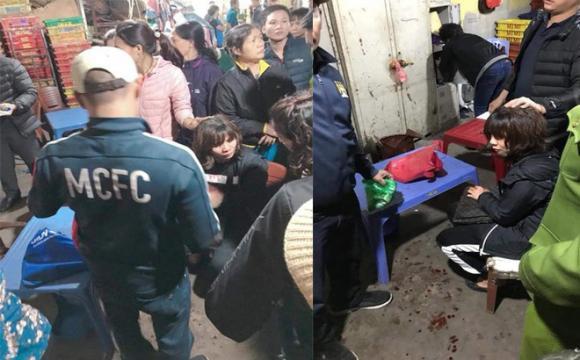 chợ Long Biên, nổ súng cướp tiền, tiểu thương