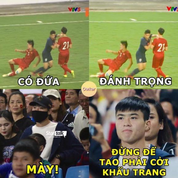 tuyển U23 Việt Nam,U23 Việt Nam, Thái Lan, ảnh chế, mạng xã hội