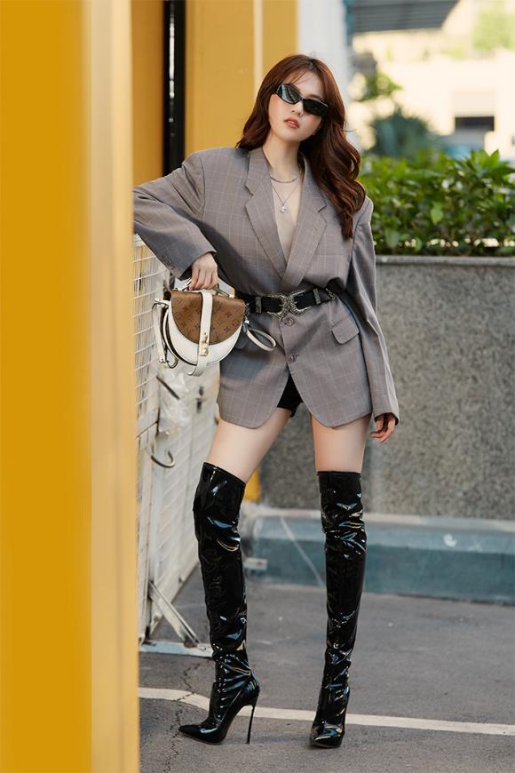 Nữ hoàng nội y ngọc trinh,người mẫu ngọc trinh,street style của ngọc trinh