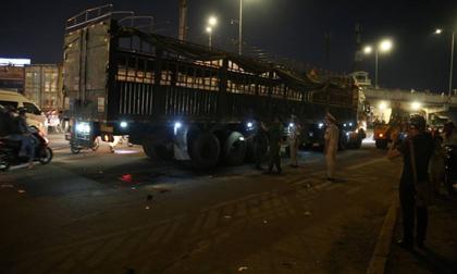 tai nạn giao thông, đạp nhầm chân ga,  Mai Dịch, Hà Nội, nữ tái xế