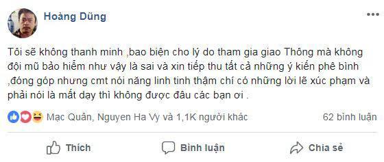 NSND Hoàng Dũng,  NSND Hoàng Dũng không đội mũ bảo hiểm, sao Việt