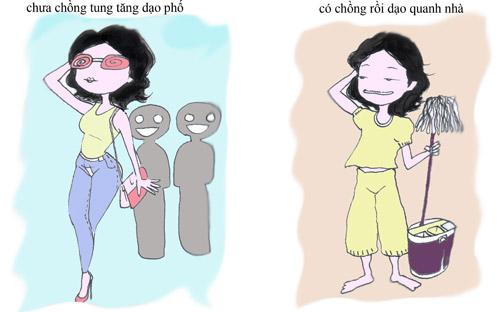 gái có chồng, gái chưa chồng, sự khác biệt giữa gái có chồng và chưa chồng, tâm sự