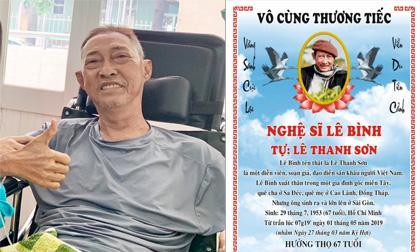 Sao việt mắc ung thư, ung thư phổi, nghệ sĩ Lê Bình qua đời