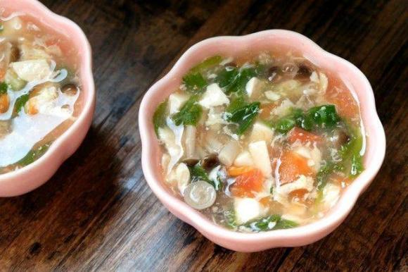 súp đậu hũ nấm, món ngon mỗi ngày, cách nấu món đậu hũ nấm ngon