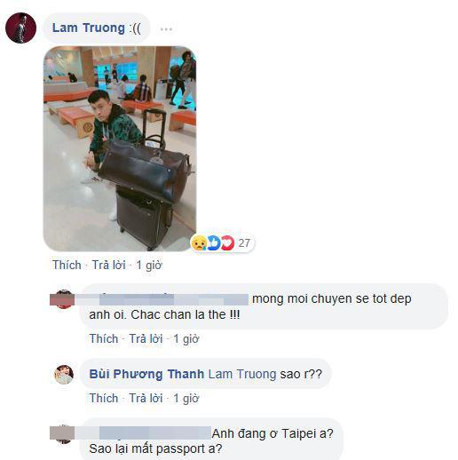 Lam Trường, Lam Trường mất hộ chiếu, Lam Trường bị mất cắp
