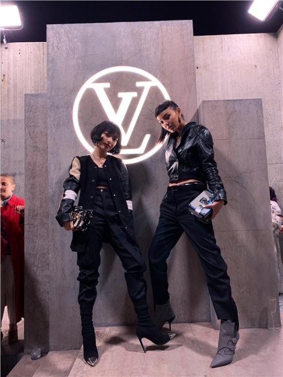 Châu bùi,street style của châu bùi,châu bùi dự show Louis Vuitton