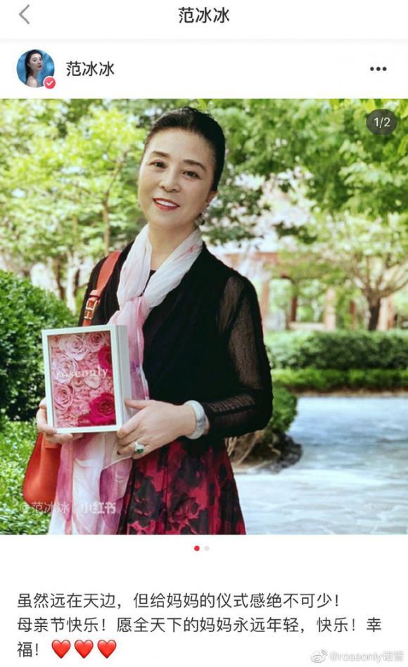 Lâm Tâm Như,Phạm Băng Băng,ngày của mẹ,sao Hoa ngữ,Trương Bá Chi,Hồ Hạnh Nhi