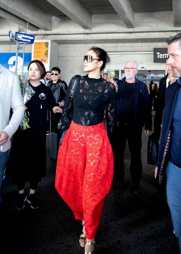 lhp cannes 2019, thời trang sân bay
