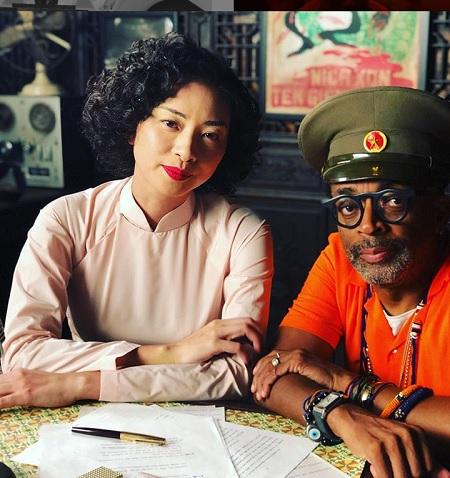 Đạo diễn đoạt Oscar - Spike Lee đăng ảnh cùng Ngô Thanh Vân trên phim trường