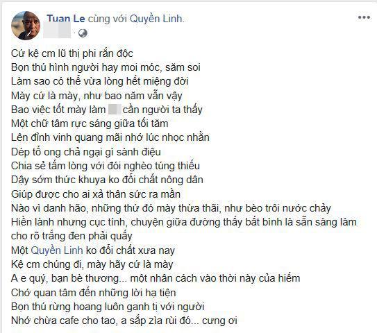 Quyền Linh, scandal Quyền Linh, Quyền Linh và Lê Tuấn Anh
