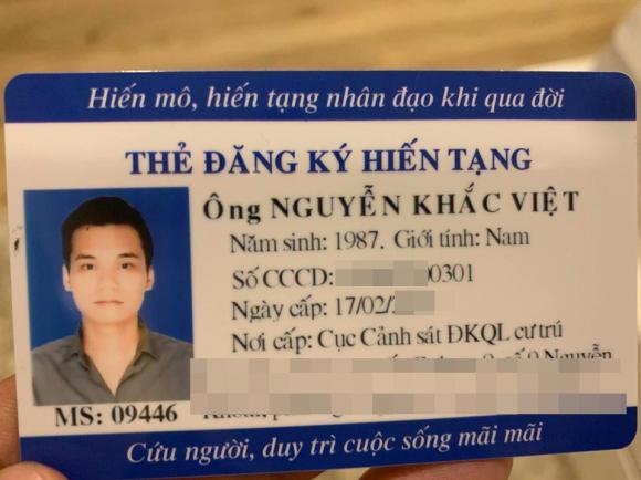 Khắc Việt, ca sĩ Khắc Việt, hiến tạng