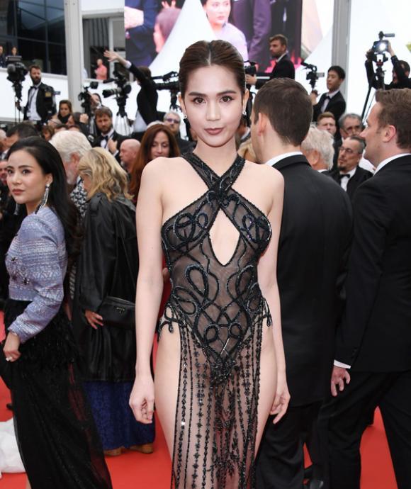 ngọc trinh, nữ hoàng nội y, thảm đỏ LHP Cannes